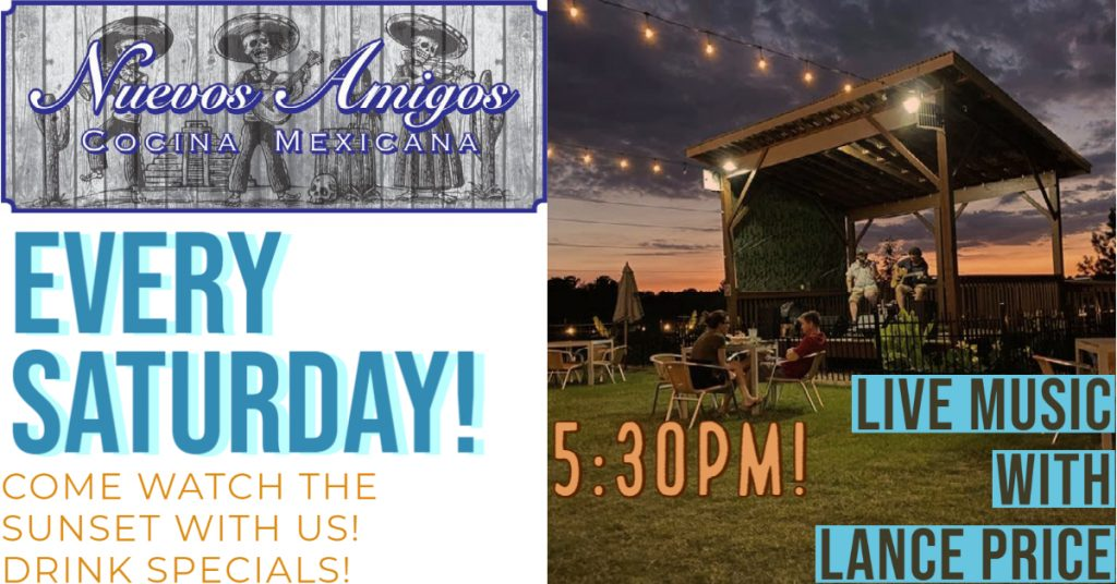 Nuevos Amigos 5:30 every Saturday in February — Come watch the sunset with us —Drink specials